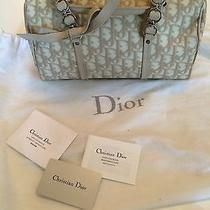 Beige Dior Canvas Purse Photo