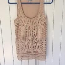 Beige Lace Overlay Tank Express X-Small Photo