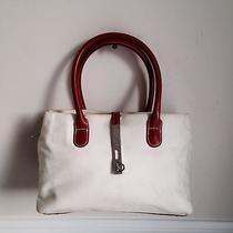 Beige Linen Cacharel Shoulder Bag Handbag Purse Photo