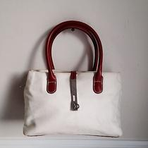 Beige Linen Cacharel Shoulder Bag Handbag Purse Photo
