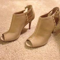Beige Open Toe Ankle Boot Photo