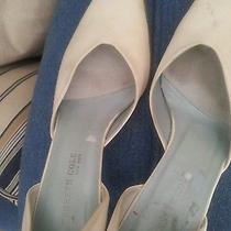 Beige Satin Wedding Shoes Size 7.5 Satin Wedding Shoes Ivory Kenneth Cole Cream  Photo