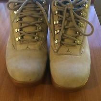 Beige Suede Jordan Sneakers Photo