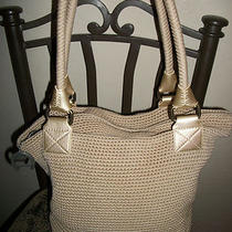 Beige the Sak Crochet Shoulder Bag/purse/hand Bag/hobo Photo