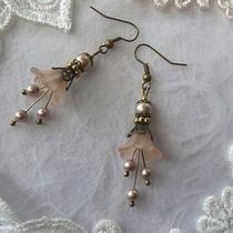 Bell Pearl Earrings Swarovski Flower Lily Gift Wedding Jewellery Jewellery Ivory Photo