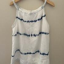 Bella Dahl Girl Blue Indigo Shirt Size 10 Tank Top Photo