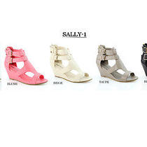 Bellamarie Womens Sandals Cute Heels Platform Open Toe Wedges Shoes A63 Photo