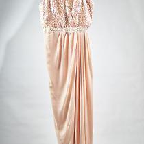 Belle Badgley Mischka Blush Pink Peach Strapless Formal Wedding Prom Dress New Photo