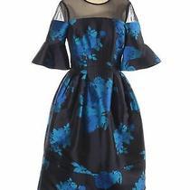 Belle Badgley Mischka Women Blue Cocktail Dress 6 Photo