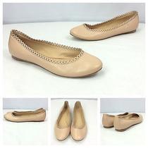 Belle by Sigerson Morrison Designer Nude Leather Slip on Ballet Flats Shoes Sz 8 Photo