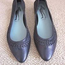 Belle by Sigerson Morrison Pewter Leather Ballet Flats- Sz 9b Photo