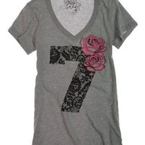 Belle Du Jour Womens v-Neck Tee T-Shirt - Hgr/heather Gry - M Photo