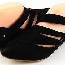 Belle Sigerson Morrison Black Suede Womens Designer Pointed Strappy Flats 10 Photo