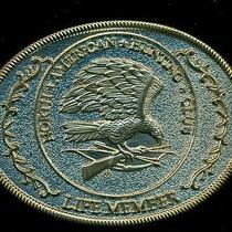 Belt Buckle - Vintage - Metal - North American Hunting Club-Life Member - Eagle Photo