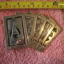 Belt Buckle. Westside Ca Royal Flush Spades With Rotating Ace Charity Photo