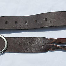 Belt Genuine Leather Choc Brown Twist Chunky Billabong Sz M Mens Classic Indie Photo