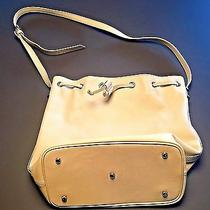 Benah for Karen Walker Ivory Cream Leather Bucket Shoulder Purse Handbag Bag Photo
