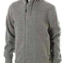 Bench New Gray Heathered Funnel Neck Fleece Lined Asymmetric Full Zip Sweater L Photo