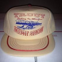 Bennett Springs Trout Fishing Missouri Hat Fish Hunting Lake State Park Vtg Hunt Photo