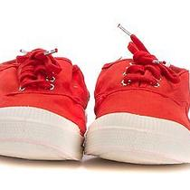 Bensimon Red Lace Up Sneaker Photo
