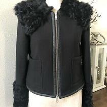 Bergdorf Goodman Ltd. Elizabeth James Black Lamb Fur Blazer Jacket Rare Euc Photo