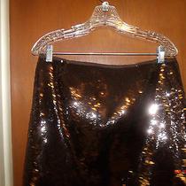 Bergdorf Goodman Theory Brown Sequin Mini Skirt Size 10 Photo