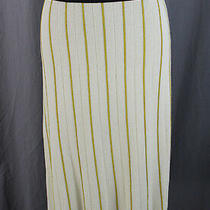 Bergdorf Goodman Tory Burch Nwt Ivory Yellow Navy Striped Knit Lena Skirt Size S Photo