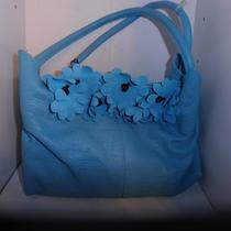 Berge Fine Leather Handbags  Turquoise Blue Photo