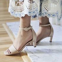 Bernardo Shoes Cameron Ankle Strap Heels Sandals Women's Size 7 Blush Nude Beige Photo