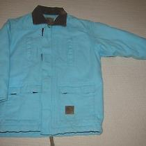 Berne Girls Sanded Turquoise Blue Lined Barn Coat Youth Size 6-8 Like Carhartt Photo