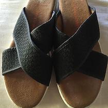 Bernie Mev Women's Avon Slide Sandal Black Women Size 38 (8 Us)   Photo