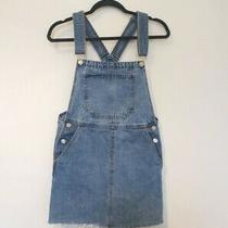Bershka Urban Outfitters Asos Jeans Light Blue Jean Denim Dungarees Dress Small Photo