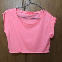 Bershka Zara Pink Orange Cropped T-Shirt Size Small /h&m American Apparel Gap Photo