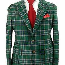 Bespoke Scottish Tartan Campbell Clan Men's Green Plaid Sport Coat Blazer Sz 42 Photo
