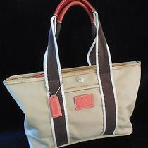 %%Best Buy Coach6261 Beige Hamptons Weekend Tote/handbag Photo