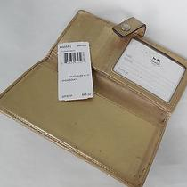 Best Buycoach Signature Credit/checkbook Wallet W/gold Metallic  Photo