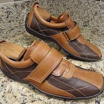 Best Buy Donald J Pliner Men Shoes 9 M 2 Tone Brown Monk Velcro  Loafers Euc Photo