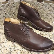 Best Buy  Mint  Frye Men Boots 9.5 D Brown Leather Chukka  Photo