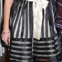 Bestey Johnson Teen Vogue Strapless Dress Size 0 in Black and Creme  Photo