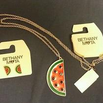 Bethany Mota Watermelon Earrings and Necklace Photo