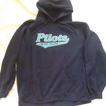 Bethel College Hooded Sweatshirt by Jansport Size Xl Navy Photo