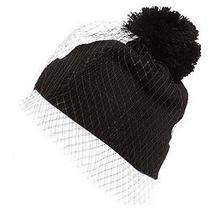 Betsey Johnson 1sfa Black  New With Tag Acrylic Nylon  Veil Photo