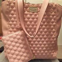 Betsey Johnson 2 in 1 Blush Pink Heart Quilted Large Tote Satchel Bag Purse Nwt  Photo