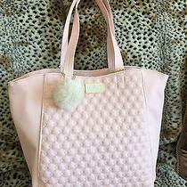 Betsey Johnson 2 in 1 Tote Large Blush Pink Pouch Quilted Satchel Bag Purse Nwt Photo