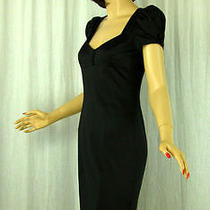 Betsey Johnson 2 Little Black Silk Satin Wiggle Dress Pin Up Photo