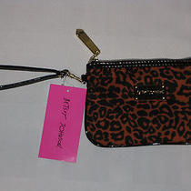 Betsey Johnson Animal Print Wristlet New With Tags Photo