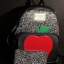 Betsey Johnson Backpack Black Red Apple School Days New Free Shipping Photo