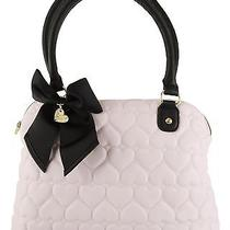 Betsey Johnson Be Mine and Yours Quilted Heart Dome Satchel Shoulder Bag Blush Photo