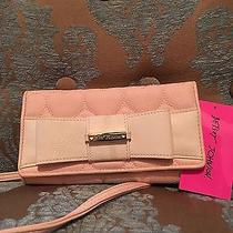 Betsey Johnson Be Mine Blush Bow Flap Wallet on a String Br22985 Nwt Photo