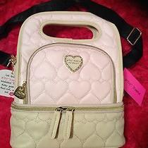 Betsey Johnson Be Mine Blush Pink Quilted Heart Lunch  Box Insulated Tote Bone Photo